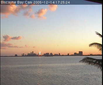 Wannman.Cam Biscayne Bay Cam webcam view over dock